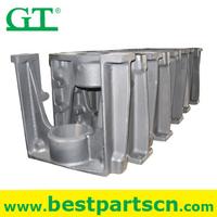 U Yoke Excavator track adjuster assy with spring , idler cylinder